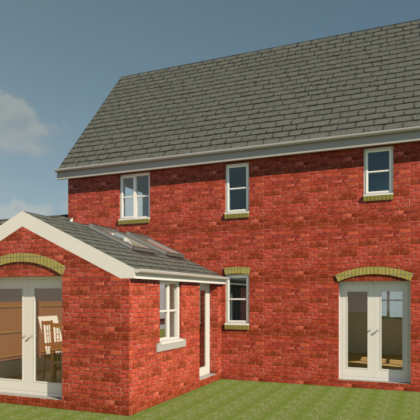 Extension and garage conversion, Chartham