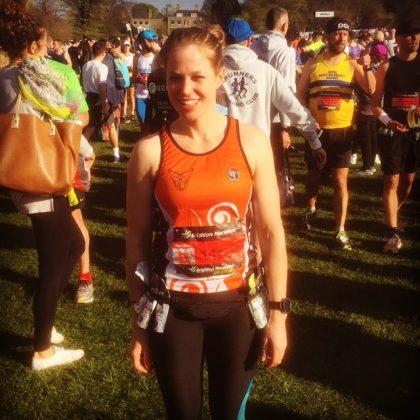 Louisa runs her first marathon